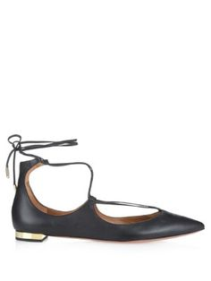 Christy leather flats  | Aquazzura | MATCHESFASHION.COM US