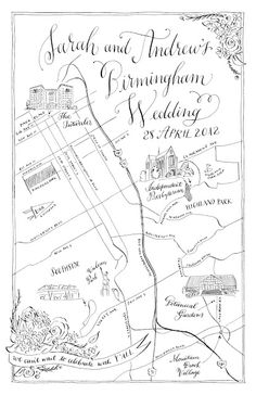 holleeanne - custom wedding weekend maps
