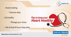 A healthy lifestyle means a healthy heart. You can help keep it going for years with these simple tips. So let's get started! ‪#‎HealthTips‬