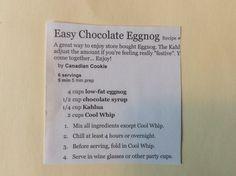 Easy Chocolate Eggnog