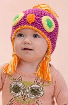 Make Me an Owl Hat ~ free knitted pattern ~ color/pigtail inspiration - available as a download