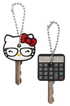 Loungefly - Hello Kitty Nerd and Calculator Key Cap $5.98