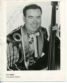 Born July 3, 1919 in Boaz, AL to sharecropper parents. Traveled in the early years of The Great Depression cross country to the West Coast to work in the fields. After settling in Modesto, CA Fred formed The Maddox Brothers and Rose, known as America's Most Colorful Hillbilly Band from the 1930s to the 1950s. It is thought Fred played the 1st note of rock n' roll on his bass. Passed away Oct. 29, 1992 and is interned in North Kern District Cemetery, Delano, Kern, CA. San Joaquin Valley, Dust Bowl, Boogie Woogie, Double Bass, Country Music, Cross Country, Hillbilly, Rock N Roll, All Star