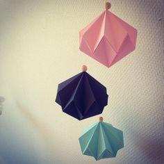 Søde origami figurer i pasteller