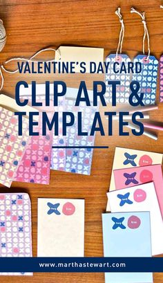 Valentine's Day Clip Art & Templates | Martha Stewart Living - Fill a loved one's day with joy with a handmade Valentine's Day card made using our heart-shaped templates and romantic clip art.