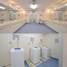 laundry and wash room for each floor