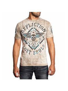 Men's T-Shirt Affliction Alloy Rust