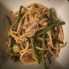 Oodles of noodles! Turkey green bean and caramelized onion bucatini. #cleaneating #foodie #bonappetit