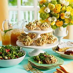 Our Easiest, Prettiest Spring Brunch | chutney chicken salad _ Plan Ahead | SouthernLiving.com