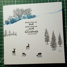 Cardio Cards, Stamping Up Cards, Card Io, Winter Cards, Greeting Cards Handmade, Homemade Cards, Paper Crafting, Stencil, Card Ideas