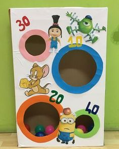 Ring Toss party game- paper towel roll, paper plates, a little paint, and a wood floor sample - MyKi. Diy Carnival, Carnival Games, Toddler Activities, Preschool Activities, Fun Games For Kids, Backyard Games, Toddler Fun, Diy Crafts For Kids, Party Games
