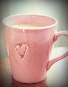 pink coffee cup LOVE THIS