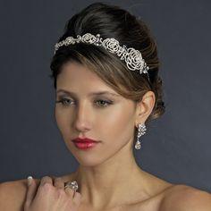 Dazzling! Rhinestone Rose Wedding Headband Tiara