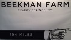 Showing people in NYC how to get to Beekman Farm