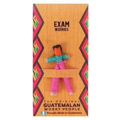 Exam Worry Doll - Handmade - Brand New 5055581669479 Red Company, Santa's Magic Key, Worry Dolls, Baby Hedgehog, Family Ornament, Sleeping Dogs, Mother And Baby, No Worries, How To Find Out