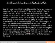 Best gift you could ever get from your father or anyone in fact faith in humanity restored wish everyone could be so kind to give up their heart for a family member or a random person! This is so sad Sweet Stories, Cute Stories, Beautiful Stories, Cute Love Stories, Sad Quotes, Inspirational Quotes, Qoutes, Try Not To Cry, Touching Stories