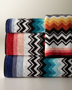 """""""Niles"""" Towels by Missoni Home Collection at Horchow."""