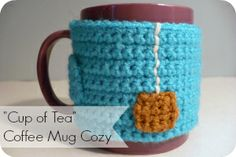 """Cup of Tea"" Coffee Mug Cozy by Mrs. Greene."