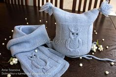 Cap and scarf with owls free pattern Crochet Abbreviations, Embroidery Fashion, Satin Stitch, Muted Colors, Baby Knitting, Boy Or Girl, Going Out, Knit Crochet, Free Pattern
