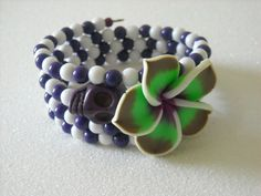 Day of the Dead Purple Skull Polymer Clay Pansy by OctoberPetals, $19.50