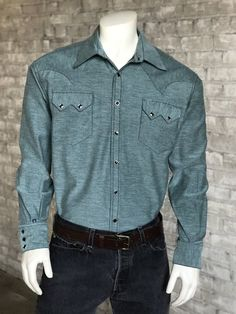 59e1974a64f  100.00 Men s Special Chambray Western Shirt Western Shirts