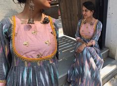 Ideas For Fashion Casual Dress Color Combos Kurti Neck Designs, Kurta Designs Women, Dress Neck Designs, Blouse Designs, Ikkat Dresses, Kids Dress Wear, Indian Designer Wear, Fashion Outfits, Dress Fashion