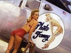 Photo Fanny WW II Aircraft Nose Art