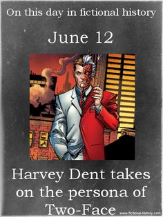 """Harvey Dent takes on the persona of Two-Face."" (Source)"