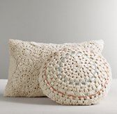 Restoration Hardware Baby & Child's Crocheted Decorative Pillow :Even contemporary crochet has a way of feeling sweetly antique, especially when rendered in ivory yarn and worked into classic rosettes as with our hand-crocheted cotton pillows.