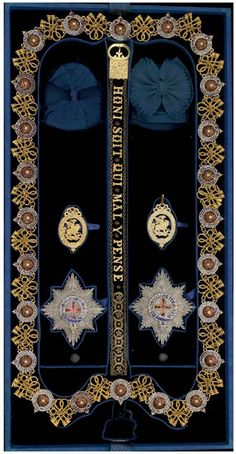 Garter insignia of Emperor Napoleon III, invested 18 April 1855.