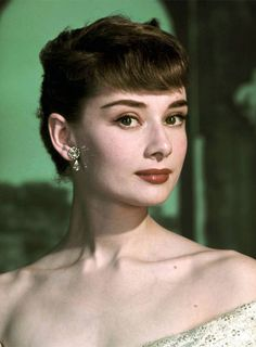 Audrey Hepburn in a promotional photo for Roman Holiday (1953).