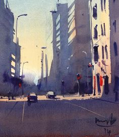 Michael Bennett Michael Bennett, Water Colors, Light And Shadow, Artsy, Architecture, Winter, Amazing, Painting, Watercolor