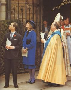 04-09-1985  Diana and Charles attend a service at Hereford Cathedral in Herefordshire.