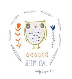 'Sleepy Owl' by Sally Payne