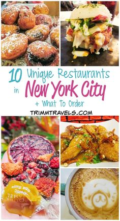 With endless choices of food in NYC, where do you start? Where do you go for something different and what do you order? It can be overwhelming, but this list of unique restaurants in new york city is exciting and has something for everyone! New York Restaurants, Unique Restaurants, Restaurant New York, New York Trip, New York City Travel, New York City Eats, Ny Food, New York Food, Bon Plan New York