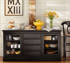 Tucker Buffet | Pottery Barn To replace baker's rack in kitchen