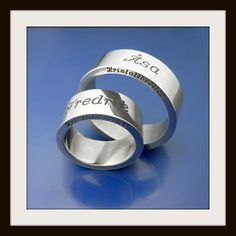 Crystal #weddingrings  (15 years! :) #kristallbröllopsringar