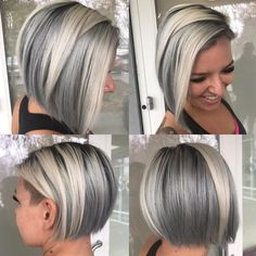 Video demo: how to use temporary spray-on color from kms stylecolor - hair color - modern salon Hair Color Highlights, Hair Color Balayage, White Highlights, Hair Color Purple, Cool Hair Color, Gray Color, Haircuts For Fine Hair, Bob Hairstyles, Grey Hair Modern