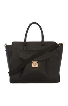 Primark - Elegante handtas in zwart reliëf