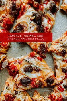 This Sausage, Fennel, and Calabrian Chili Pizza is a savory and spicy combination perfect for your next pizza night!   whipandwander.com   #pizzanight #pizzarecipe #homemadepizza #easypizzrecipes #pizzarecipes #sausagepizza #fennelpizza #spicypizza #savorypizzatoppings #meatpizza #pizzatoppings Pork Recipes, Fish Recipes, Slow Cooker Recipes, Whole Food Recipes, Freezable Meals, Easy Meals, Cooker Cheesecake, Reheat Pizza, Deserts