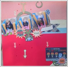 #papercraft #challenges: Have you seen the fun entries in our weekly #Papercrafting Challenge: Magazine Mondays? This cute Week 69 #scrapbook #layout submission is from Rebecca D., another regular in our weekly challenge, Magazine Mondays. Our next challenge, Week 70, will be live shortly - won't you join in? YOU could WIN fun papercrafting goodies just for creating!