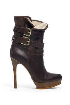 * 215 Michael Kors Dark Brown Mae Buckle Boot ($330)