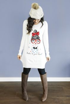 I'm Just A Girl Oversized Sweater Dress in Cream