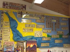 My ancient Egyptian display. Year 3