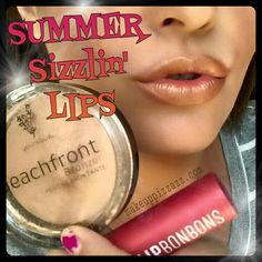 """HOT🔥HOT🔥HOT Summer Sizzlin' Lips!!! 😎 A summer lip combination using Lip Bonbons in """"Chocolate Truffle"""" and Beachfront Bronzer in """"Malibu"""" creates this sizzlin' hot look! 😎 makeuppizzazz.com"""