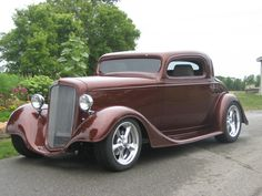 ✿1934 Chevy Coupe✿ Chevy Classic, Classic Cars, Hot Rod Autos, Vintage Cars, Antique Cars, Chevy Hot Rod, Volkswagen, Automobile, Car Man Cave