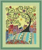 "Gallery.ru / yasochka61 - Альбом ""Радужный город"" Cross Stitch Embroidery, Cross Stitch Patterns, Cross Tree, Blackwork, Kids Rugs, Rainbow, Album, Quilts, Pearls"