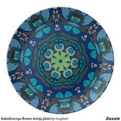 kaleidoscope flower #1035 plate