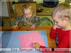 DIY Montessori Pink Tower First Introduction