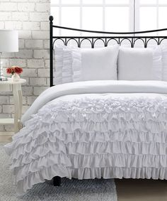Loving this White Miley Mini Comforter Set on #zulily! #zulilyfinds